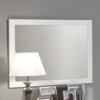An Image of Gianna Wall Mirror Rectangular In White Gloss
