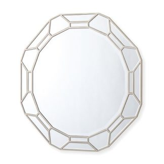 An Image of Dominga Round Wall Mirror In Silver Finish