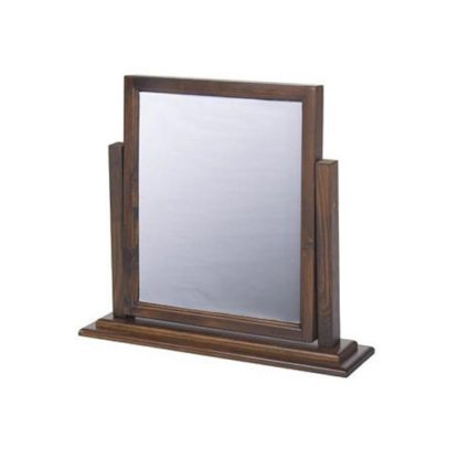 An Image of Biston Single Mirror In Dark Tinted Lacquer Finish