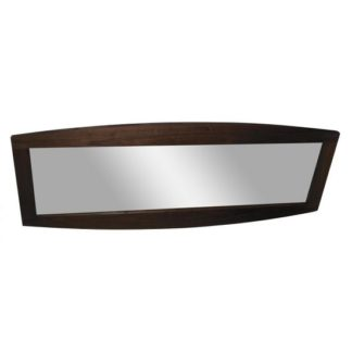 An Image of Anneli Contemporary Wall Mirror Rectangular In Walnut