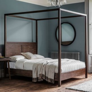 An Image of Boho Retreat Wooden Super King Size Bed In Walnut