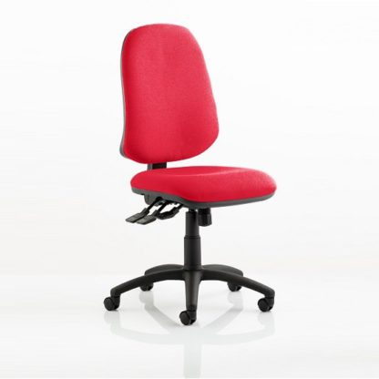 An Image of Olson Home Office Chair In Cherry With Castors