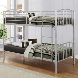 An Image of Corfu Steel Bunk Bed In Silver