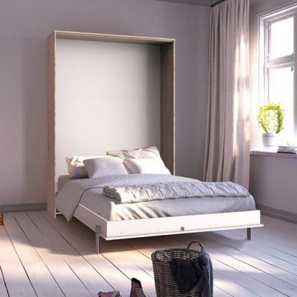 An Image of Juist Wooden Vertical Foldaway Double Bed In San Remo Oak