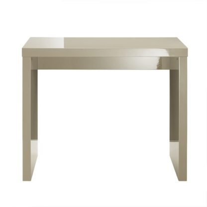 An Image of Curio Stone High Gloss Finish Console Table
