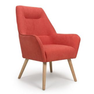 An Image of Pacific Chenille Effect Accent Chair In Brick Orange