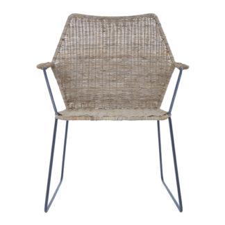 An Image of Hunor Natural Rattan Angled Design Chair