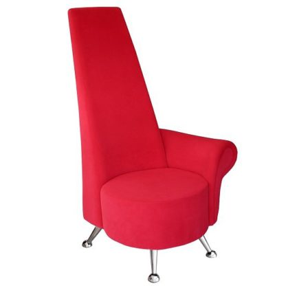 An Image of Adalyn Left Handed Mini Potenza Chair In Red Fabric