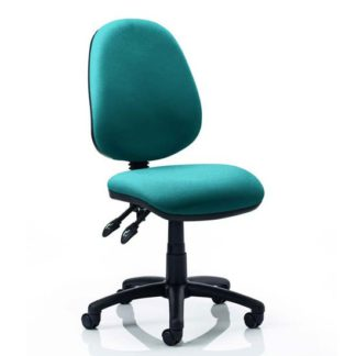 An Image of Luna II Office Chair In Maringa Teal