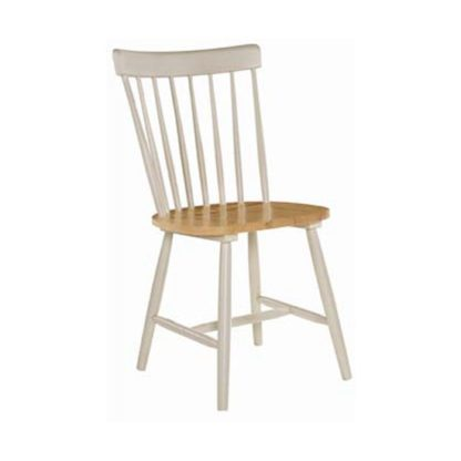 An Image of Rotanev Wooden Dining Chair In Stone Grey And Oak