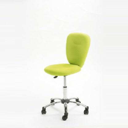 An Image of Pezzi Office Children's Swivel Chair in Green