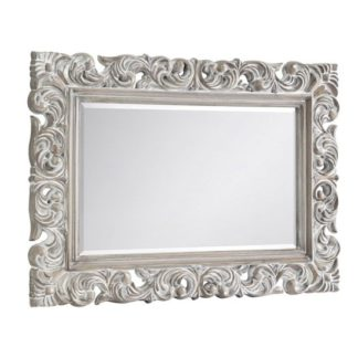 An Image of Baroque Distressed Wall Bedroom Mirror