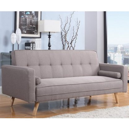 An Image of California Modern Fabric Sofa Bed Large In Grey