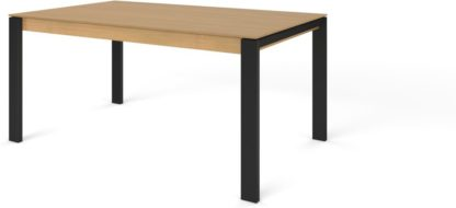An Image of Custom MADE Corinna 6 Seat Dining Table, Oak and Black
