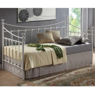 An Image of Florida Vintage Style Metal Daybed In Ivory