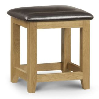An Image of Marlborough Dressing Table Stool With Waxed Oak Legs