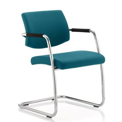 An Image of Marisa Office Chair In Kingfisher With Cantilever Frame
