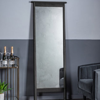 An Image of Wycombe Cheval Dressing Mirror In Black
