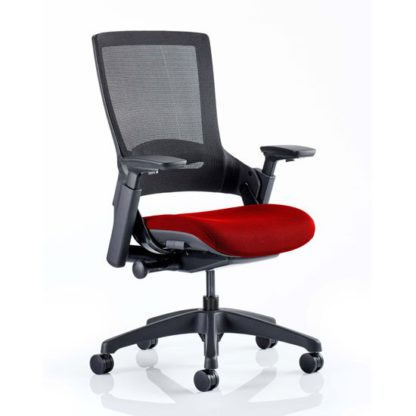 An Image of Molet Black Back Office Chair With Bergamot Cherry Seat