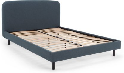 An Image of MADE Essentials Besley Small Double Bed, Aegean Blue