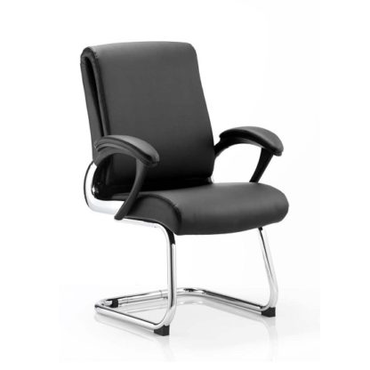An Image of Vargas Visited Chair In Black With Padded Arms