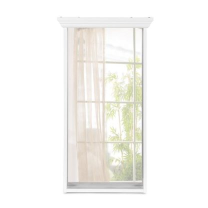 An Image of Country Wall Mirror Rectangular In White