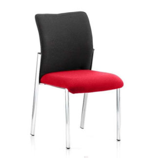 An Image of Academy Black Back Visitor Chair In Bergamot Cherry No Arms