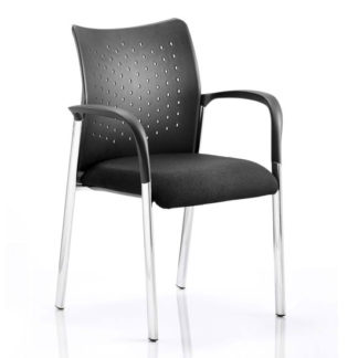 An Image of Academy Office Visitor Chair In Black With Arms