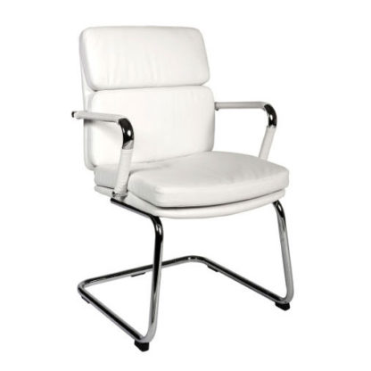 An Image of Deco Visitor Retro Eames Style White Chair