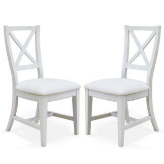 An Image of Krista Fabric Dining Chair In Grey Linen In A Pair