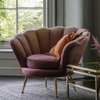 An Image of Rivello Lounge Armchair In Rose