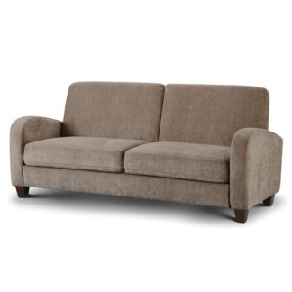 An Image of Hampshire Fabric 3 Seater Sofa In Mink Chenille