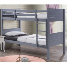 An Image of Napoli Wooden Children Bunk Bed In Grey