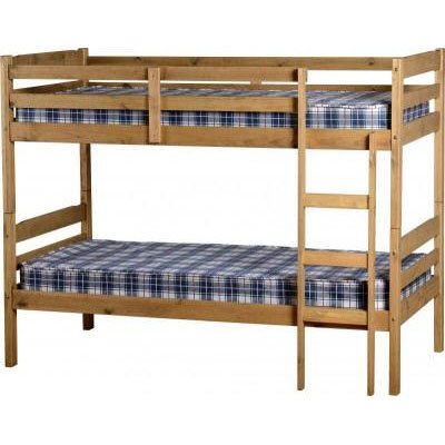 An Image of Amitola Bunk Bed in Natural Oak Wax