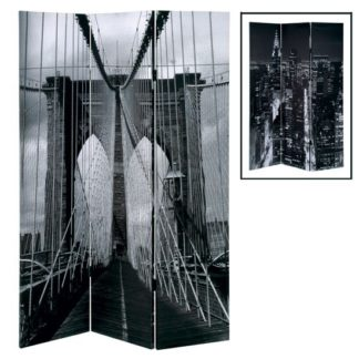 An Image of Brooklyn Bridge Foldable Room Divider In Canvas
