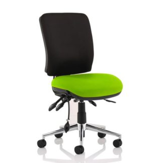 An Image of Chiro Medium Back Office Chair With Myrrh Green Seat No Arms