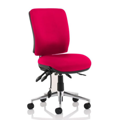 An Image of Chiro Medium Back Office Chair In Tabasco Red No Arms