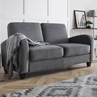 An Image of Vivo Chenille Fabric Fold Out Sofa Bed In Dusk Grey