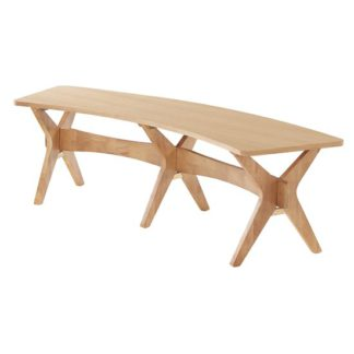 An Image of Malun Contemporary White Oak Finish Dining Bench