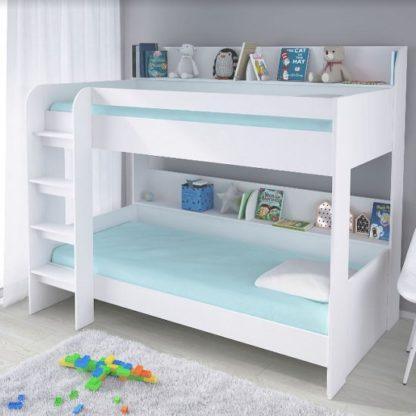 An Image of Creston Contemporary Bunk Bed In White