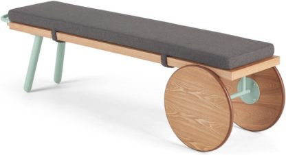 An Image of Carola Bench, Ash and Mint Green