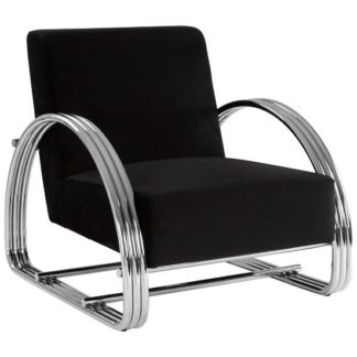 An Image of Markeb Leisure Chair In Black