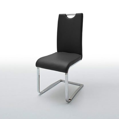 An Image of Louis Metal Swinging Black Dining Chair