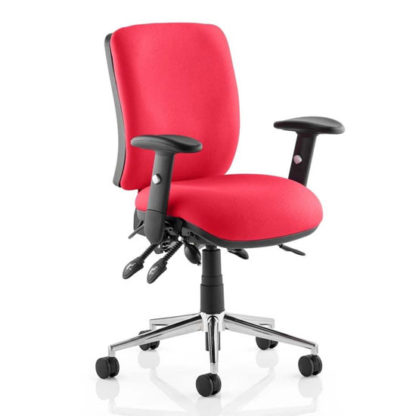 An Image of Chiro Medium Back Office Chair In Bergamot Cherry With Arms