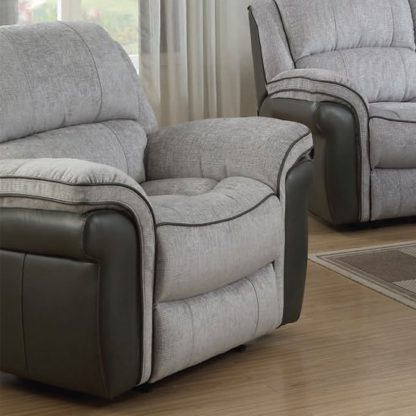 An Image of Lerna Fusion Lounge Chaise Armchair In Grey