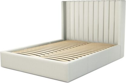 An Image of Custom MADE Cory Double size Bed with Drawers, Putty Cotton