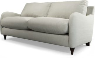 An Image of Custom MADE Sofia 2 Seater Sofa, Plush Silver Velvet