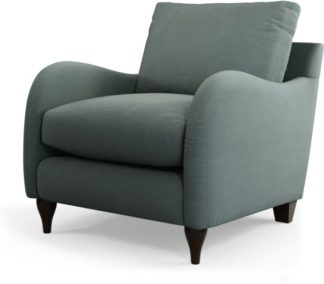 An Image of Custom MADE Sofia Armchair, Athena Dark Grey