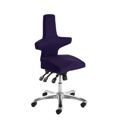 An Image of Stacy Home Office Chair In Purple With Chrome Base