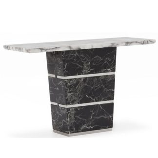 An Image of Chrysla Marble Console Table In White And Black